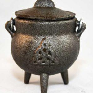 triquetra cast iron cauldron 3 inch
