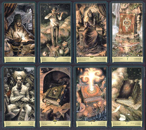 Dark Grimoire Tarot Sample Cards
