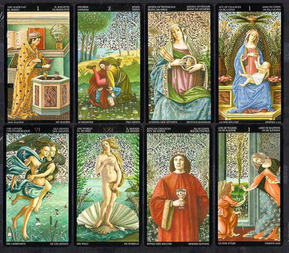 Golden Botticelli Sample Cards