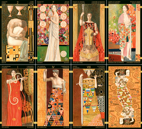 Golden Klimt Mimi Sample Cards