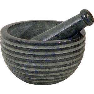 Grey Soapstone Mortar and Pestal