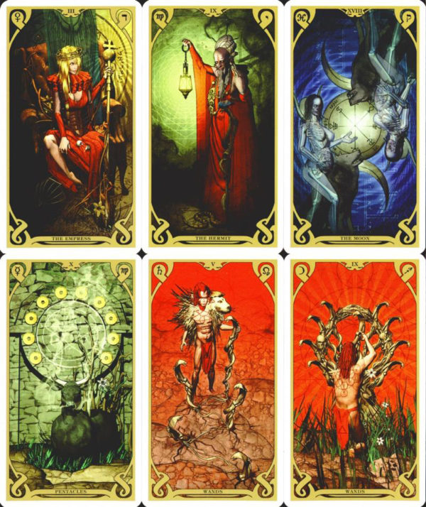 Night Sun Tarot Sample Cards