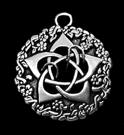goddess pentacle pendant