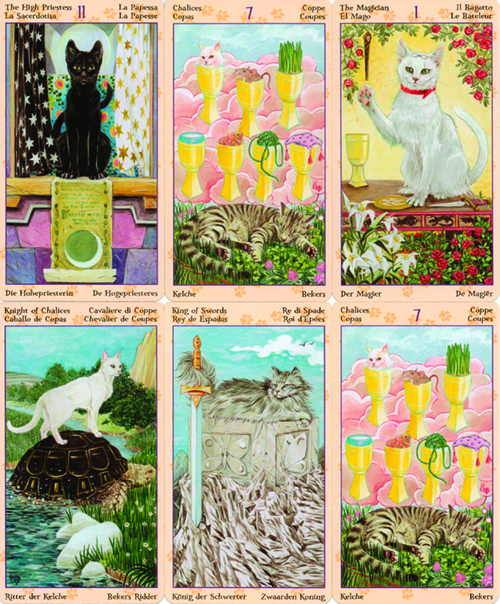 Tarot Pagan Cats Sample Cards