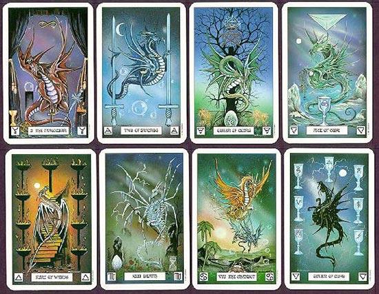 dragon tarot sample cards
