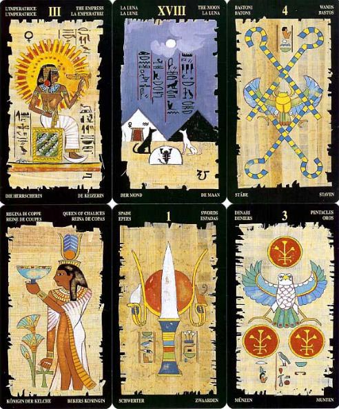 egyptian tarot sample cards