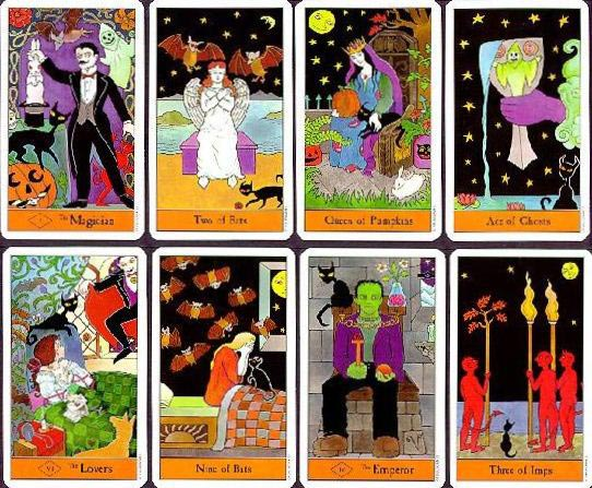 halloween tarot sample cards