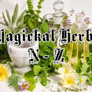 magickal herbs n - z