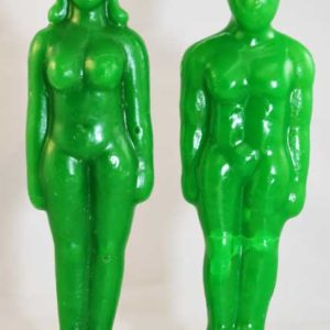 human figure candles