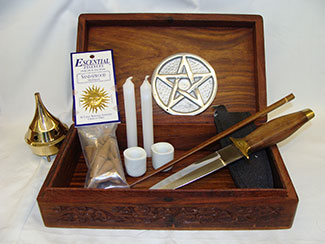 portable wicca altar kit