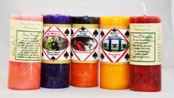 small pillar candles