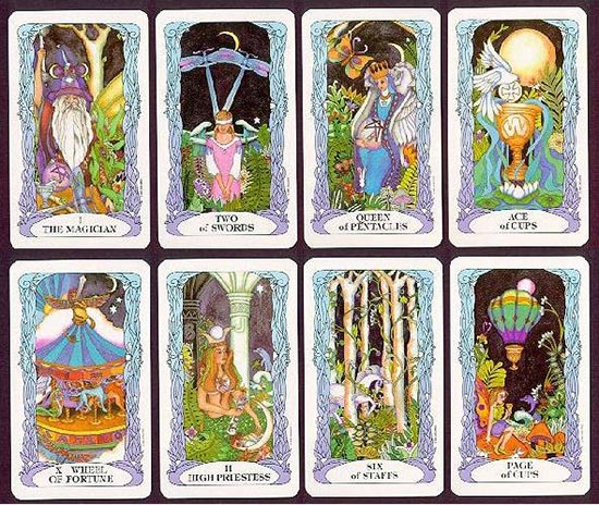 tarot moon garden sample cards