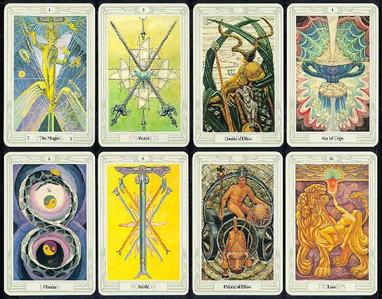Thoth Tarot Mini Sample Cards