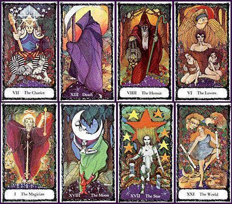 sacred rose tarot sample cards